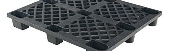 Vestil SKID-17 Solid Deck Plastic Pallet, 2200 lbs Capacity, 40″ Length, 48″ Width, 5-3/4″ Height, Black