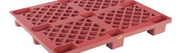 Vestil SKID-20 Plastic Skid, 3300 lbs Capacity, 40″ Length, 48″ Width, 5-1/2″ Height, Red