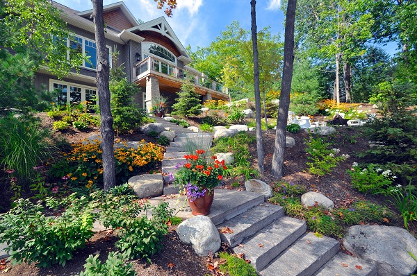 An image of beautifully designed garden